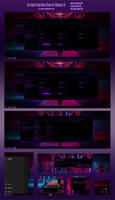Pure Black Purple Neon Theme Win10 Fall Creators by Cleodesktop