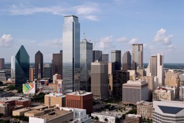 Dallas Texas Skyline Sunny Day by stretchc