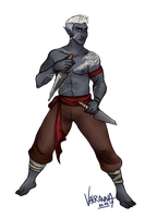 Commission: Gaul the Drow by Valravna