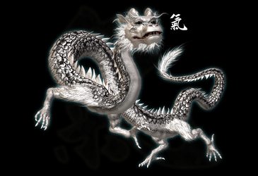 Eastern Dragon (White) by illysArt