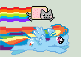 Rainbow Dash and Nyan Cat by CrizCamacho