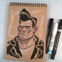 Drink and Draw Frankenstein by D-MAC