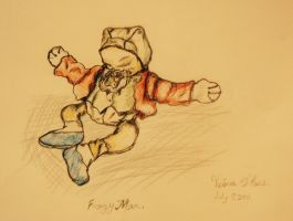 Frogy Man. by ladyburrfoot
