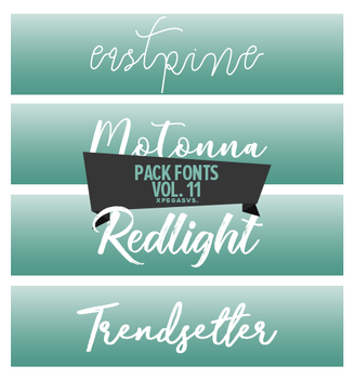 Pack Fonts Vol. 11 by xPEGASVS