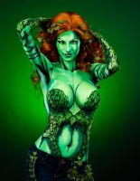 Poison Ivy Bodypaint by KayPikeFashion