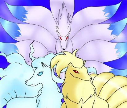 Three Forms Of Ninetails by AngelenShadows