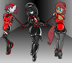 Comm: Rubber Grip and her Walking Maids by Shennanigma