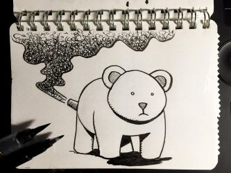 Inktober 7: Exhausted by Size-And-Stupidity