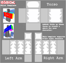 Roblox Shadded Shirt Template by kill299