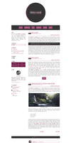 Blogspot template Violet love by stupid-owl
