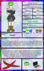 Viridian (Character Sheet COMMISSION) by Strayhowl