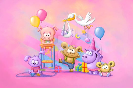 Pink Baby Party by Tooshtoosh