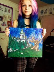 Me with my art haha by KaylaMarie831