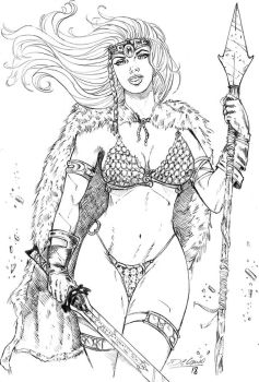 Red Sonja by delanio