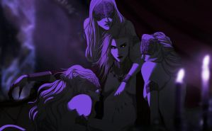 Demi and lasses by Banished-shadow