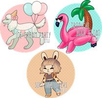 Summer Party Adopts! (Closed) by dreamywren