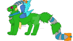 Neon Burricon adopt 1 by Burricon-wolflord