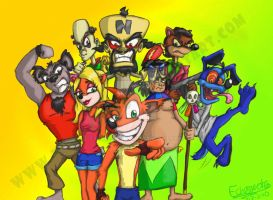 Crash Bandicoot-Original Cast by Echo-Gecko