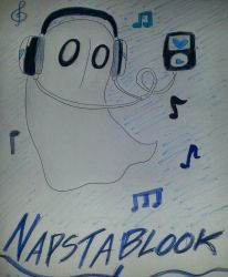 Napstablook by Angelic-Melody12
