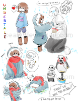 Undertale Sketch 01 by keary