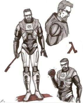 Gordon Freeman by GunslingerShakaKhan