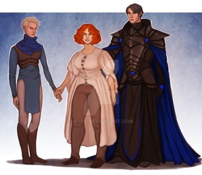 Commission: Nathan, Jo and Alex by Enife