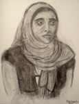 Woman Wearing Hijab by themizarkshow