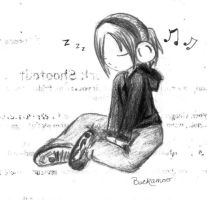 Music Chibi bnw by DimsumPanda