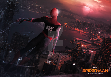 SPIDER-MAN FAR FROM HOME - RED SKY by iMizuri