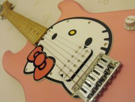 Hello Kitty guitar by Patchwork-Rainbow