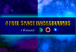 4 FREE Space Backgrounds (+bonuses) by nettlejelly