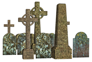 Graves 13 PNG Stock by Roy3D
