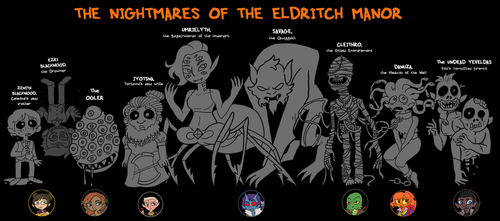 The Nightmares of the Eldritch Manor by Zal001