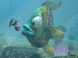 Cartoon Exotic Fish 3D by 3DSud
