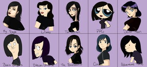 10 Art Style Challenge by grimm-doll