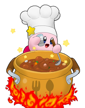 Cook Kirby - Dinner Time! by Rotommowtom
