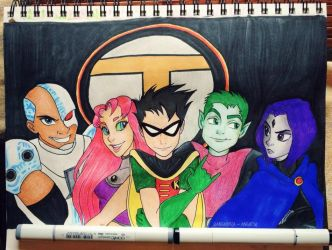 Teen Titans! by caligrl7072