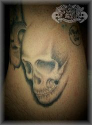 Shaded skull by state-of-art-tattoo