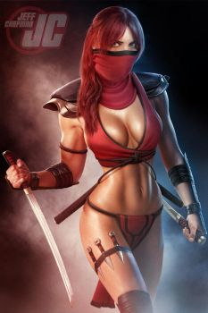 Skarlet: Mortal Kombat, Commission by Jeffach