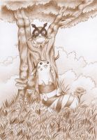 Furret and Hoothoot