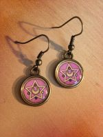 Sailor Moon Crystal Star Compact Brooch Earrings by Monostache