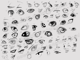 Eye Study 75 Differents eyes by newdeal666