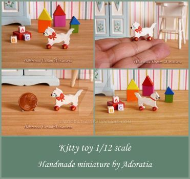 Kitty toy 1/12 scale by Adoratia