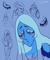 Blue Diamond Doodles by syppahscutecreations