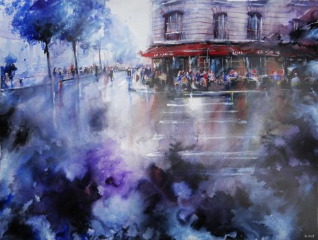 La Marine - Paris painting by nicolasjolly