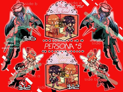 PERSONA 5 CHARMS SALE!! by mooncute26
