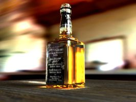 3D Whiskey Bottle by kwills84