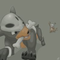 Houndour and Marowak