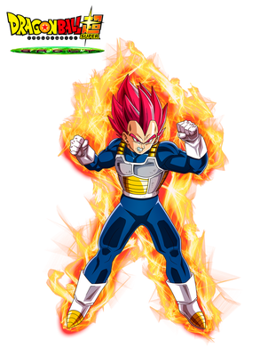 Vegeta God Red Film DBS Broly V2 by cdzdbzGOKU