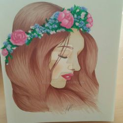 Girl with Flower crown by LilleJah